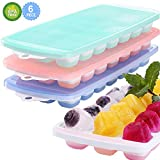 Magicdo Ice Cube Trays,3 Packs Food Grade Flexible Silicone Ice Cube Molds Tray with Lids, Easy...