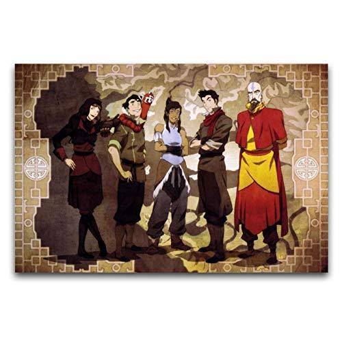 Avatar The Last Airbender figuras de anime en lienzo para decoración de pared, cuadros para sala de estar, 30 x 45 cm