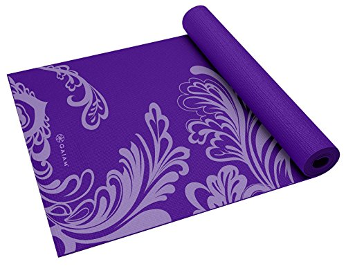 Gaiam Yoga Mat Classic Print Non Slip Exercise & Fitness Mat for All Types of Yoga, Pilates & Floor Workouts, Watercress, 4mm