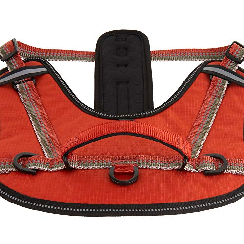 TOP PAW Reflective Comfort Ergonomic Dog Harness Orange Small