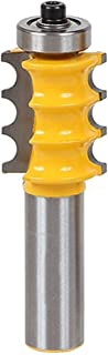 B Blesiya Large Triple Bead Column/Face Molding Router Bit 1/2-Inch & 1/4-InchShank - Yellow, 0.5inch