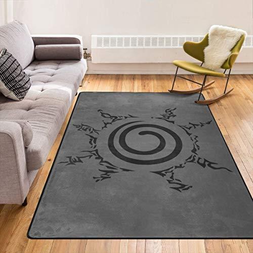 Caimizogojocrz Teppich mit japanischem Anime-Naruto-Motiv, rutschfeste Bodenmatte, Fußmatten für Wohnzimmer, Schlafzimmer, Kinder zum Spielen im Innenbereich, 213,4 x 152,4 cm