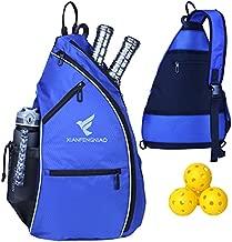 Pickleball Backpack Sling Bag Crossbody Backpack?Reversible Tennis Bag (Blue)