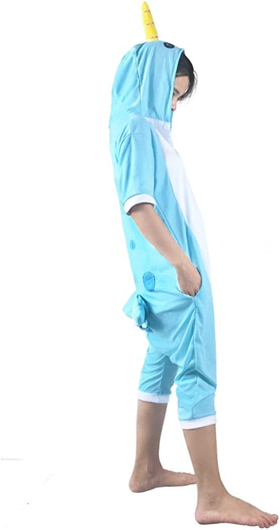 WOTOGOLD Animal Cosplay Costume Narwhal Unisex Adult Pajamas