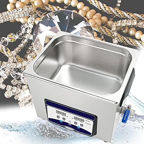 10Lステンレス鋼振動洗浄機、40HZジュエリー機器、宝石店ガラス店洗浄用デジタルタイマー付き240Wヒーター