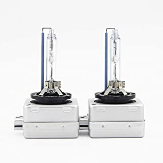 EKYLIN Car Auto D3S Xenon Head Lights HID Lamps Replacement Bulb High Brightness Headlight 8000K Iceberg Blue Metal Chassis 35W 12V(Pack of 2)