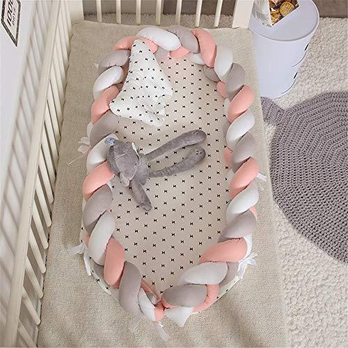 CULASIGN Babynestchen Babynest Nestchen 90x50cm Baby Ausstattung-Set Kuschelnest Herausnehmbarer Baby-Matratze Baby-Reisebett 100% Baumwolle...