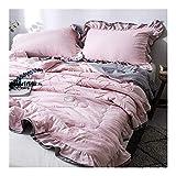 BABYCOW Juego de edredón Ligero de Verano y 2 Fundas de Almohada de 1,5 TOG, patrón geométrico, Juego de Ropa de Cama de edredón de Moda Lavable para sofá/Manta de sofá 035 (Color: A, Tamaño: Indi