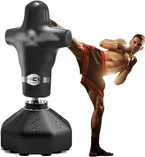 Saco De Boxeo Humanoide Saco De Boxeo con Forma Humana Equipo De Entrenamiento De Taekwondo for Niños Bolsa De Aire Vertical Sanda for El Hogar (Color : Black, Size : 70 * 180cm)