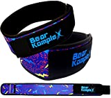 Bear KompleX 4' Straight Weightlifting Belt for Powerlifting, Squats, Weight Training & More. Low Profile with Super Firm Back for Maximum Stability & Exceptional Comfort. Straight Lightning S