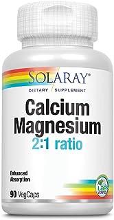 Solaray Calcium & Magnesium Amino Acid Chelate 2:1, Veg Cap (Btl-Plastic) 90ct