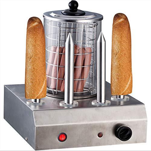 Syntrox Germany Edelstahl Hot Dog Maker 4 Spieße