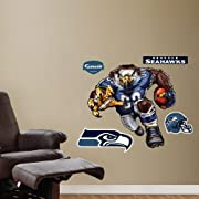 Thick high-grade vinyl resists tears, rips and fading; MADE IN THE USA Fathead Vinyl Wall Graphic of: Sinister Seahawk Superior Quality Print and Material; Peel and place whenever, wherever; No loss of adhesion; Recommended for safe and easy use on p...