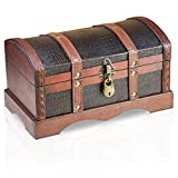 Brynnberg Caja de Madera - Croco 30x17x16cm - Cofre del Tesoro Pirata de Estilo...