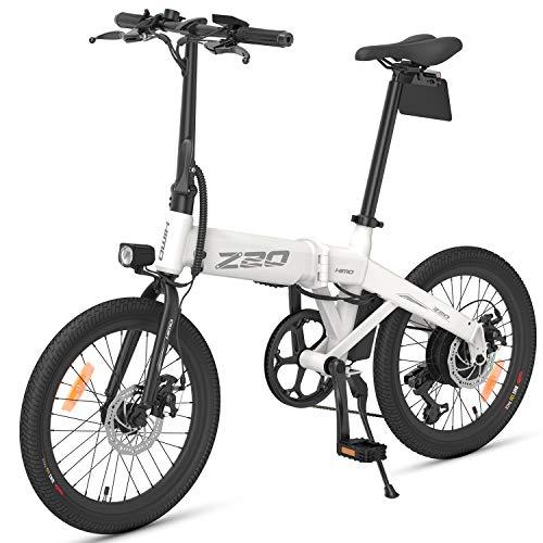 WooDlan Bicicleta Plegable de la energía 20 Pulgadas Asistencia eléctrica Bicicleta eléctrica de 80 km Rango 10AH batería extraíble ciclomotor E-Bici Bicicleta eléctrica