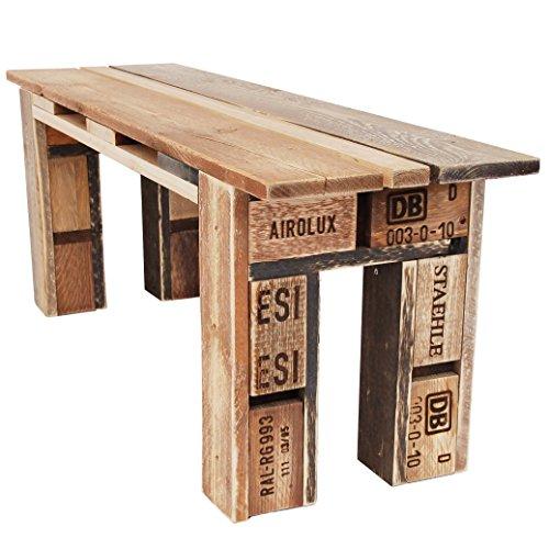 Palettenmöbel Bank, Sitzbank Bench, Neuholz gebeizt in klassischer Paletten Optik, jedes Teil ist einzigartig und Wird in Deutschland in Handarbeit gefertigt