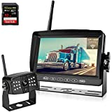 """OYT Backup Camera Wireless with 7"""" Touch Button Upgraded Recorder Monitor for RV Trailers,5th Wheels,Motorhomes,Campers,Support Split/Quard Screen Rear View System with Stable Signal"""
