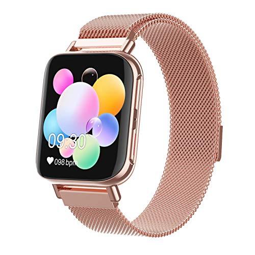 XXH Smart Watch, Pantalla Hiperboloide De Alta Definición M96, Llamada Bluetooth, Ritmo Cardíaco Y Monitor De Presión Arterial, Pulsera De Seguimiento De Fitness,B