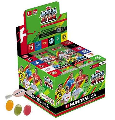 Topps Match Attax Bundesliga 2020/2021-1 x Display je 36 Booster zusätzlich 1 x Sticker-und-co Fruchtmix Bonbon