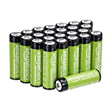 AmazonBasics AA Rechargeable Batteries 2000mAh (24-Pack) Pre-charged