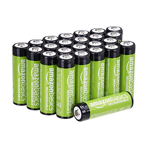 Amazon Basics AA Rechargeable Batteries 2000mAh (24-Pack) Pre-charged