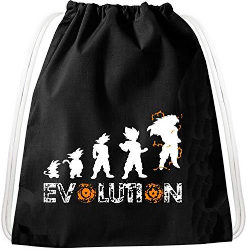 Evolution Goku Dragon Mochila Bolsa Gym Bag Sport Jute Pouch, Mochila