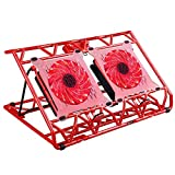 AICHESON Laptop Cooling Pad 2 Fans 1500RPM, Red LEDs,...