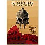 WYBFLF Leinwand Poster Gladiator Poster Klares Bild