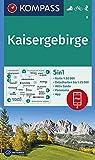 KOMPASS Wanderkarte Kaisergebirge: 5in1 Wanderkarte 1:50000 mit Panorama, Aktiv Guide und Detailkarten inklusive Karte zur offline Verwendung in der ... Skitouren. (KOMPASS-Wanderkarten, Band 9) - KOMPASS-Karten GmbH