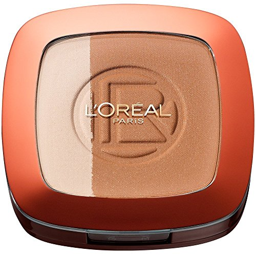 L\'Oréal Paris Make Up Glam Bronze Duo Sun Powder, 101 Blonde Harmony - 2 in 1 Bronzepuder für den Sommer-gebräunten Look - für helle Hauttypen, 1er Pack (1 x 9 g)