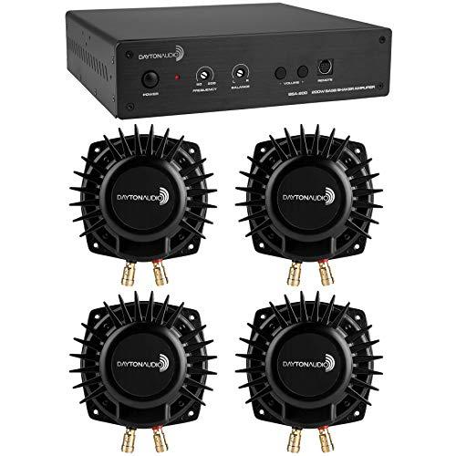 Dayton Audio BSA-200 Amp with 4 BST-1 Bass Shakers Bundle