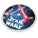 Geinum Star Wars Christmas Tree Skirt Holiday Party Decorations Home Ornaments