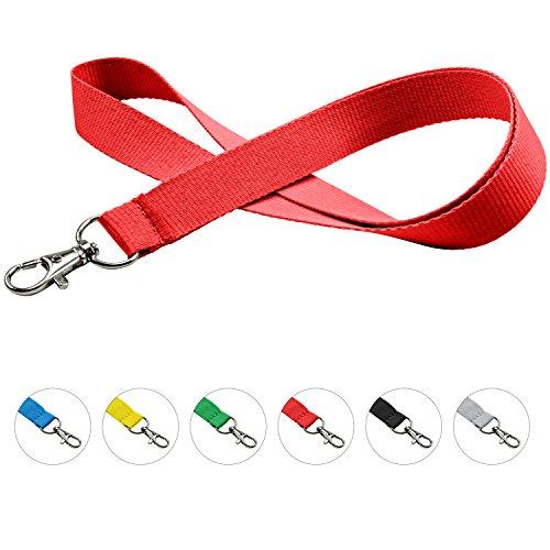 linie zwo®, 10er Pack Schlüsselbänder 20mm, easy going Haken, Rot
