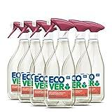 Ecover Limpiador de horno y cocina (6 x 500 ml), desengrasante sostenible contra la suciedad y la grasa, limpiador de cocina y horno con ingredientes biodegradables a base de plantas.