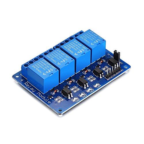 Yizhet 5 V 4-Kanal-Relay DC 5 V Relais Shield Module Control Board mit Optokoppler für Arduino PIC AVR MCU DSP ARM TTL Logic