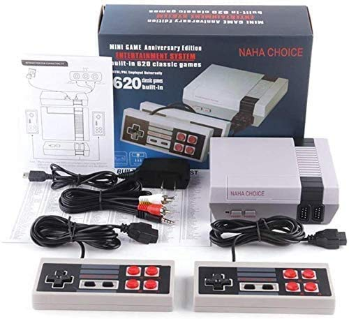 Naha Choice Retro Game Console, AV Output NES Console Built-in Hundreds of Classic Video Games