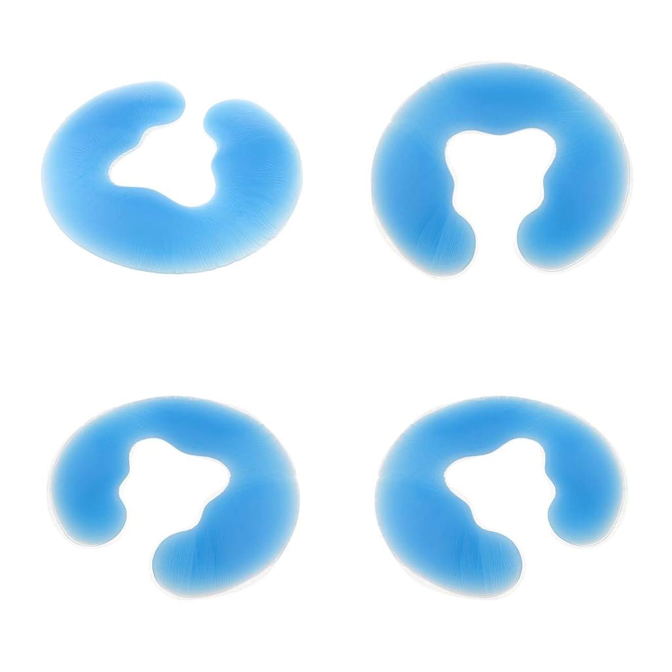 矢薬用検出P Prettyia フェイスクッション 顔枕 U字型 シリコン ヘッドクッション ボディマッサージ フェイスピロー 枕