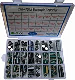 New 24Value 124pcs Electrolytic Capacitor Assortment Box Kit Range 22uF-4700uF (6.3V 16V 25V 35V 50V 450v)