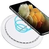 ULTRICS Wireless Charger, Qi Certificado 10W Cargador Inalámbrico Rápido Base Compatible con iPhone 12 Pro/ SE 2020/ 11/ XS Max/XR/X, Airpods Pro, Samsung S21/ S20/ S20+/ S10e/ S9 Plus, Note 20/ 10