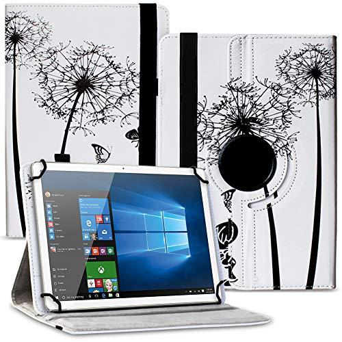 Tablet Hülle kompatibel für Lenovo Miix 320 310 300 Tasche Schutzhülle Case Cover aus Kunstleder Standfunktion 360 Drehbar, Farben:Motiv 7