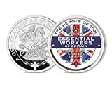 Sterling Mint Heroes of 2020 Essential Workers Pure Silver Layered Collectable Medal Coin with Full Colour Union Jack
