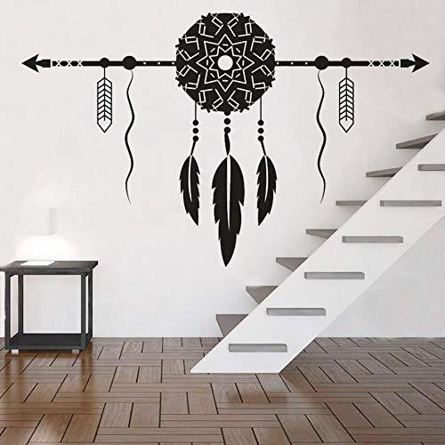 Kjlfow Estilo Bohemio Vinilo Etiqueta de la Pared decoración del Dormitorio del hogar Flecha Impermeable Arte Mural calcomanía Creativa 102x64 cm
