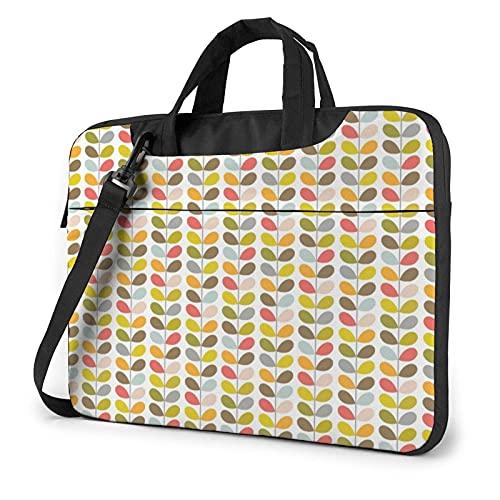 Bolso de hombro para ordenador portátil Lindo hojas bolsa de ordenador portátil Bolsa de hombro Messenger maletín 13/14/15.6 pulgadas