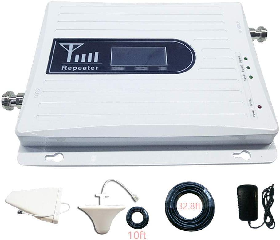 HXY Amplificador de señal de teléfono Celular 4G repetidor de Refuerzo T-Mobile 900/1800 / 2100MHz Amplificador de señal para comunicación de Voz en ...