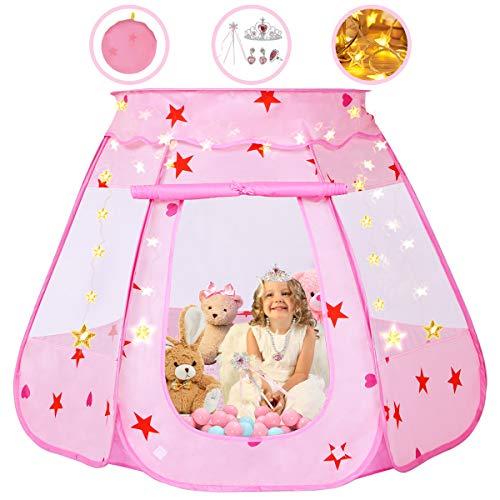 Kids Play Tent, Pop Up Princess Children Ball Pit Pool Carpa House para niños
