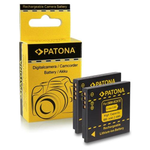 PATONA 2X Bateria reemplazo para Panasonic DMW-BCK7 / DMW-BCK7E Compatible con Panasonic Lumix DMC-FH25, DMC-FH27, DMC-FS28, DMC-FS35