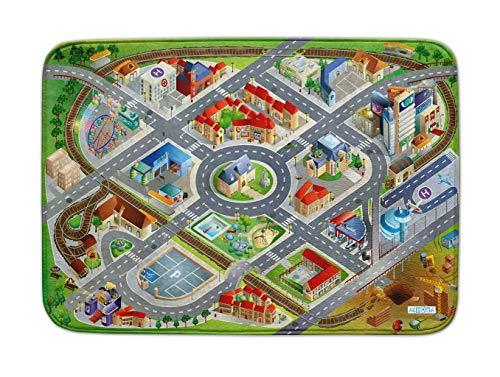 Spielteppich Ultrasoft - Rutschfest 130 x 180 cm (130x180, District / Stadt 130x180)