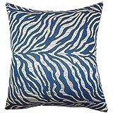 vintage cap Helaine Zebra Print Cushion Cover, Blue