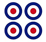 Set of 4 Remote Control (RC7) Red Blue White RAF Roundels 2 3/4' RC Airplane Sticker Decal
