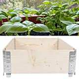 Uxsiya Jardín de la cama de la putrefacción Jardín de la flor de la caja para la jardinería al aire libre del